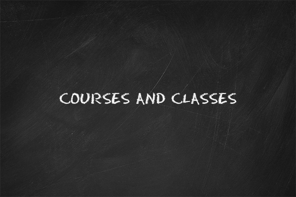 "The thumbnail image for the ""Courses and Classes"" video tutorial"