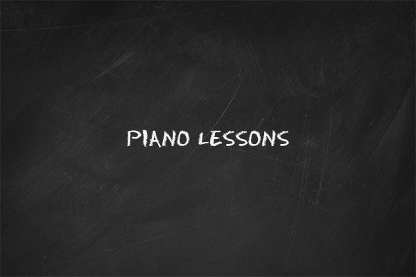 "The thumbnail image for the ""Piano Lessons"" video tutorial"